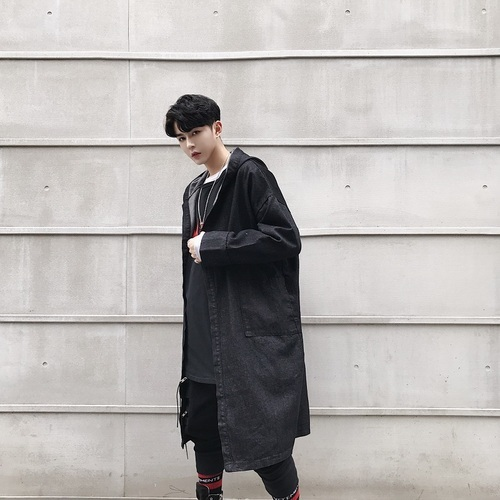 Male Casual Cloak Cardigan...