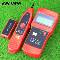 KELUSHI NF-8208 Multifunctionele LCD Display Netwerk LAN Continuïteit Tester Kabel inspectie Wire Tracker tester snelle verzending
