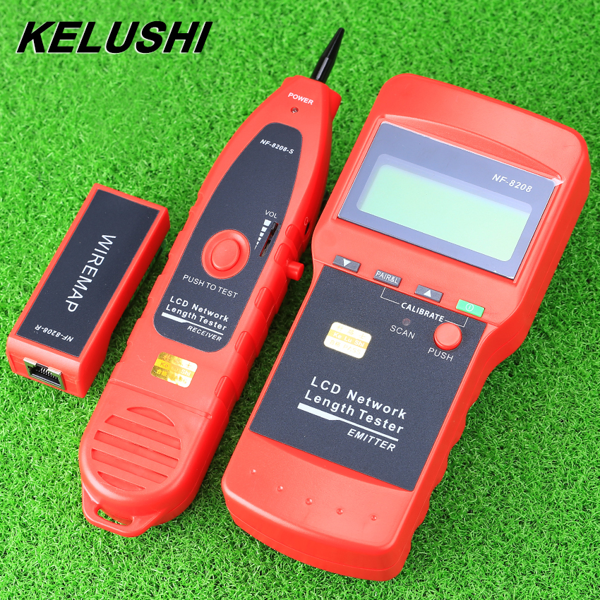 KELUSHI NF-8208 Multipurpose LCD Display Network LAN Continuity Tester Cable inspection Wire Tracker tester fast shipping network wire tracker nf 806b handy support trace telephone wire lan cable free shipping not include battery