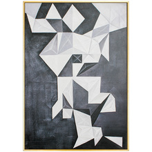 100% Hand Painted Morden Geometry Art Oil Painting On Canvas Wall Adornment Pictures For Living Room Home Decoration