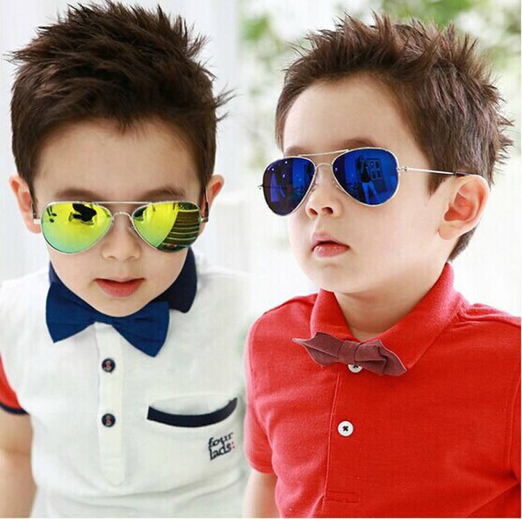 DRESSUUP Fashion Baby Boys Kids Sunglasses Piolt Style Brand Design Children Sun Glasses 100%UV Protection Oculos De Sol Gafas image