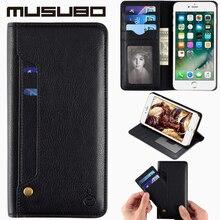 Musubo Марка Case Для iPhone 7 plus Ultra Slim Бумажник Крышка С Слот Для карты Держатель Чехол Для iPhone 6 Plus 6 S Plus случаях флип 7 P чехол на айфон 6s Plus 7 cases