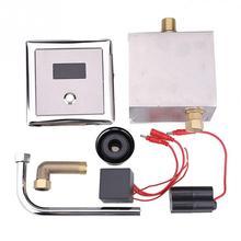 """G(1/2) """"настенный туалет автоматическое определение писсуар сливной клапан для ванной кран латунный кран DC.6V или AC.220V-50/60Hz"""