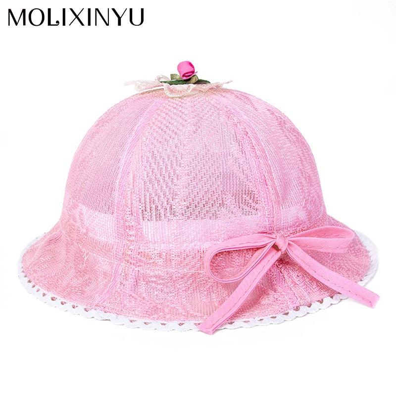 MOLIXINYU Children s Baby Girl Cap Kids Sun Hat Summer Lovely Fashion Straw  Hat Beach Cap Girls Toddlers Infants 36ece1d7b11
