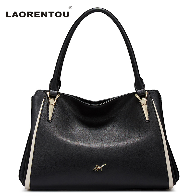 LAORENTOU Luxury Leather Shoulder Bag For Women Designer Brand Ladies Casual Tote Saffiano Handbag Fashion Women Bags N52 aosbos fashion portable insulated canvas lunch bag thermal food picnic lunch bags for women kids men cooler lunch box bag tote