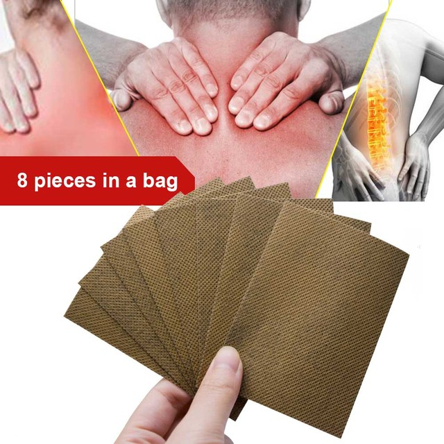 8Pcs Chinese Traditional Plaster Wudu Mifang Tie Muscle Massage Relaxation Capsicum Herbs Plaster Joint Pain C504