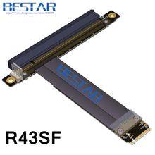 M.2 NGFF NVMe de KeyM A + E 2230 2242 2260 2280 de PCI-e 16x Tarjeta vertical de Cable 1FT 2FT Gen3.0 pcie PCI-Express x16 Extender 32G/bps