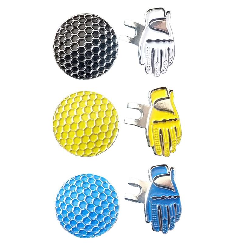 Alloy Silver Magnetic Visor Hat Cap Clip Removable Metal Golf Ball Marker Set Golf Hat Clip