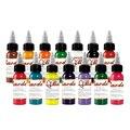14 piezas de pigmento de tatuaje de planta Natural maquillaje permanente botella de 30 ML tatuajes pigmento de tinta para el cuerpo suministros de Arte de belleza profesional