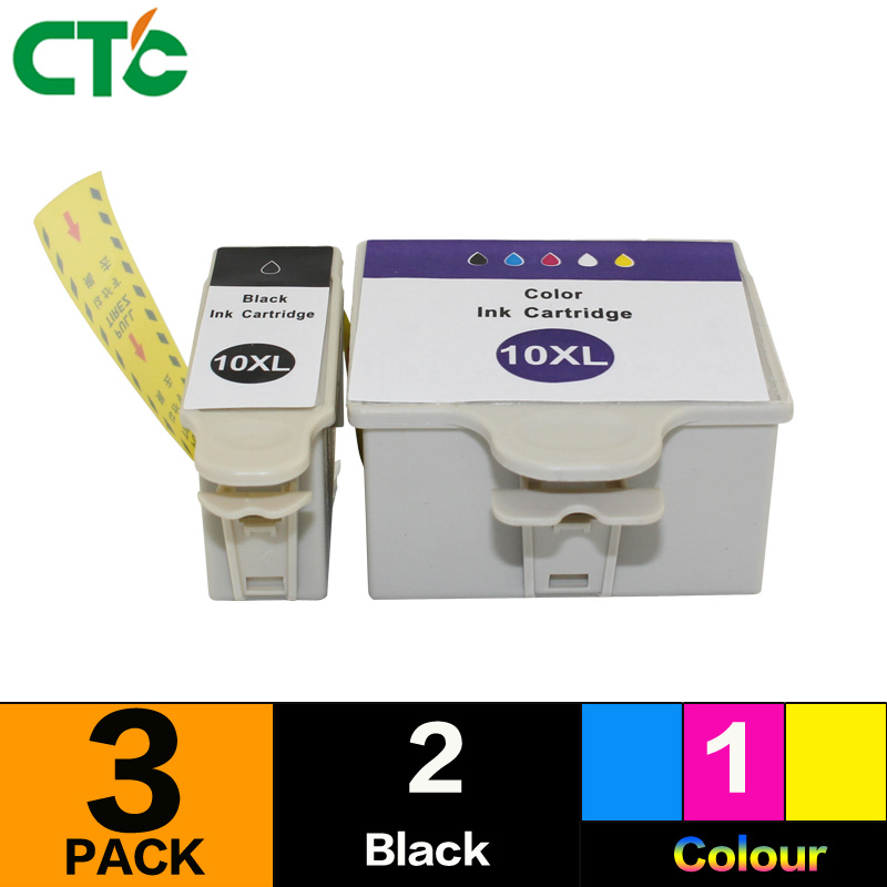 3PCS Compatible for Kodak 10 ESP 3250 Ink Cartridge HERO 6.1/7.1/9.1 All-in-One 10BK 10C ESP-3 ESP-5 ESP-7 ESP-9 Printer