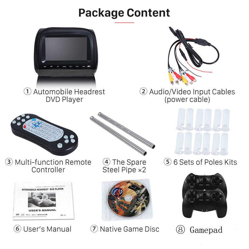 2 個 9 インチ車のヘッドレストモニター Dvd プレーヤー TFT 液晶画面とジッパーカバーサポート IR/FM Transmitte /USB/SD/スピーカー/ゲーム