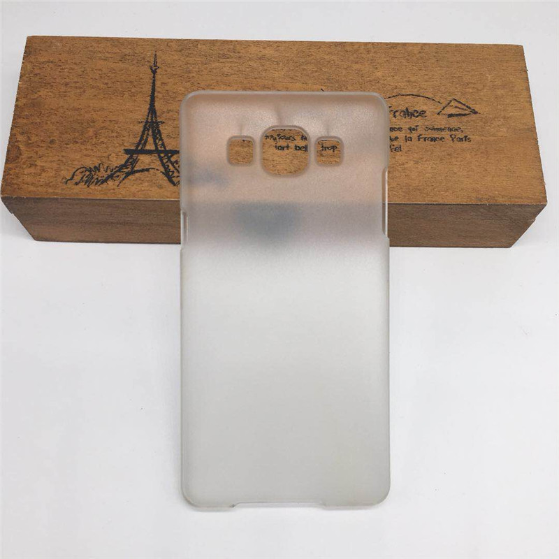 Hard Matte Clear Cover For <font><b>Samsung</b></font> Galaxy A8 <font><b>A8000</b></font> 2015 Frosted Shield Phone Back Half Cover Case Bag Fuda Capa image