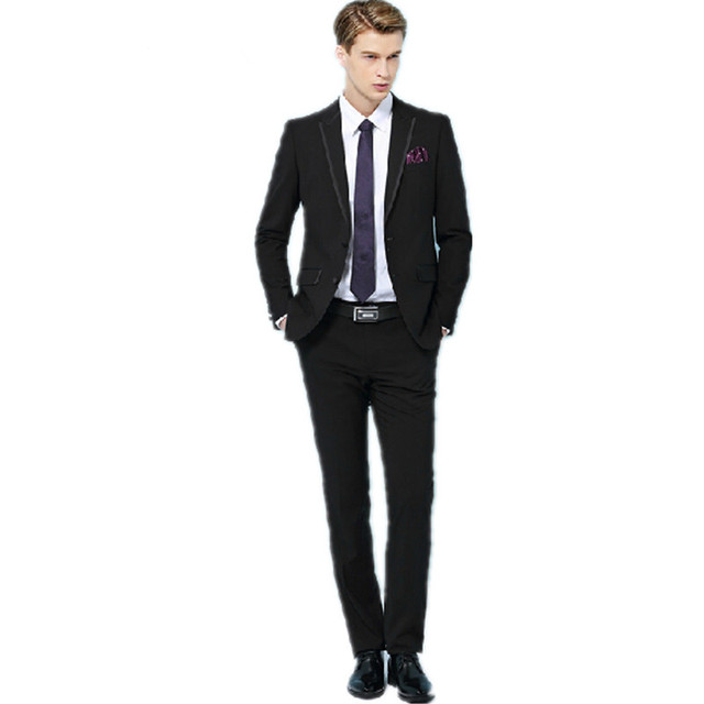 the handsome young man wearing a suit lapel fashion design