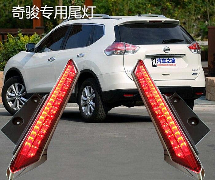 Osmrk СИД предупредительный световой сигнал задний фонарь вождение колонны света светодиодные задние бампера света для Ниссан х-Трейл 2015 2014 2016