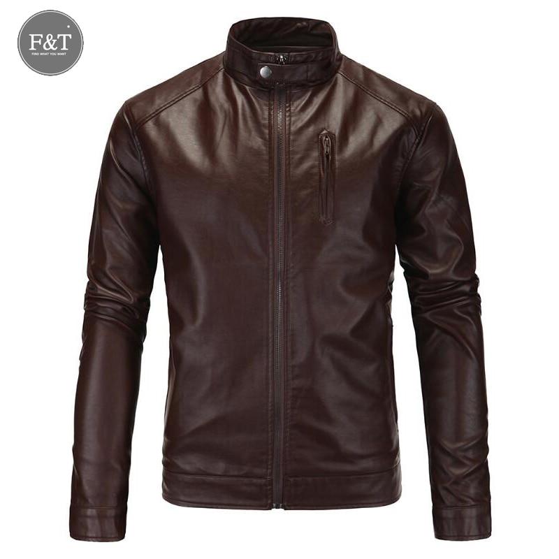 [Asian Size] Motorcycle Leather Jackets Men Winter Leather Clothing Men Leather Jackets Male casual Coats Brand Jaqueta De Couro