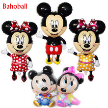 New Large & Small Cartoon Mickey Minnie Foil Balloons Cute Minnie Mickey Head Balloon Birthday Party Wedding Decoration Supplies(China)