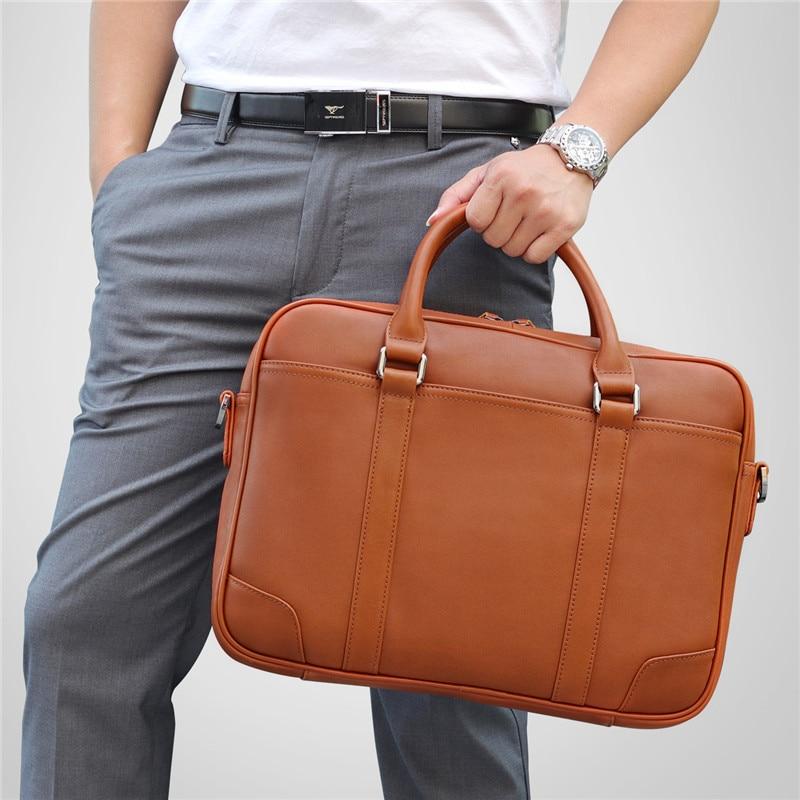 HTB14jyBXozrK1RjSspmq6AOdFXal Nesitu Black Brown Genuine Leather Office Men Briefcase Messenger Bags Real Skin Business Travel Bag 14'' Laptop Portfolio M7349