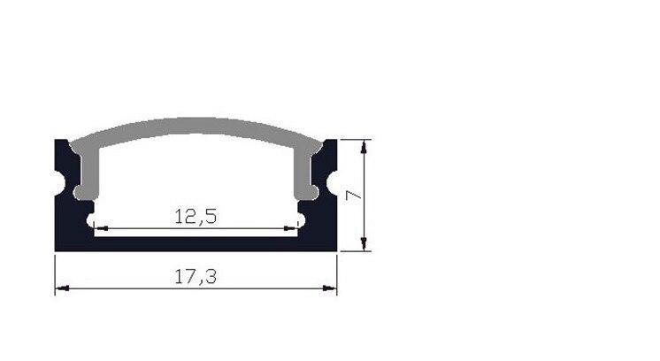 conduzida e 75x35mm de aluminio tira levou ou m lot new 03