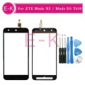 "Original 5.0"" For ZTE Blade X5 / Blade D3 T630 Touch Screen Digitizer Sensor Glass Lens Panel Black + Tools Free shipping"