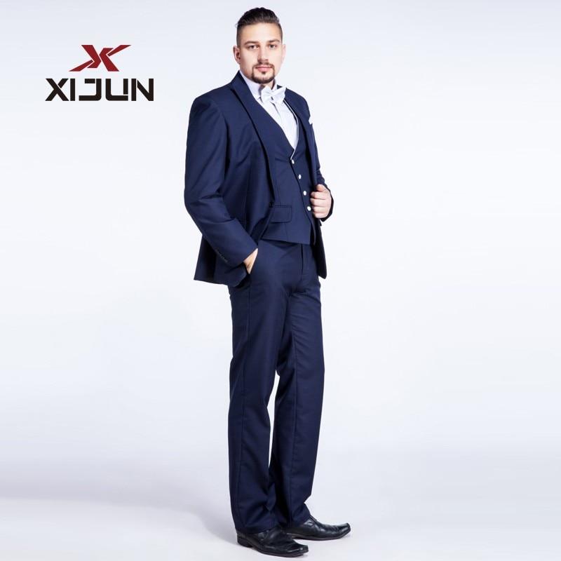 Aliexpress.com : Buy Xijun Royal Blue Men Suits For