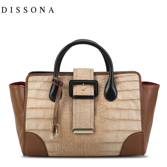 Dissona Women S Handbag Crocodile Pattern One Shoulder Bag Genuine Leather 8123a03211b00