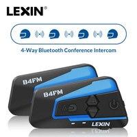 2 шт. Lexin 4 способа пересеченной местности, мотоцикл Bluetooth шлем гарнитуры домофон, FM, BT, интеркомуникатор, наушники MP3 interfone