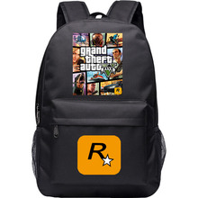 Grand Theft Auto Backpack For Boys GTA Canvas Bag Shoulder Travel School Bag For Teenagers Casual Laptop Bag Mochila Escolar