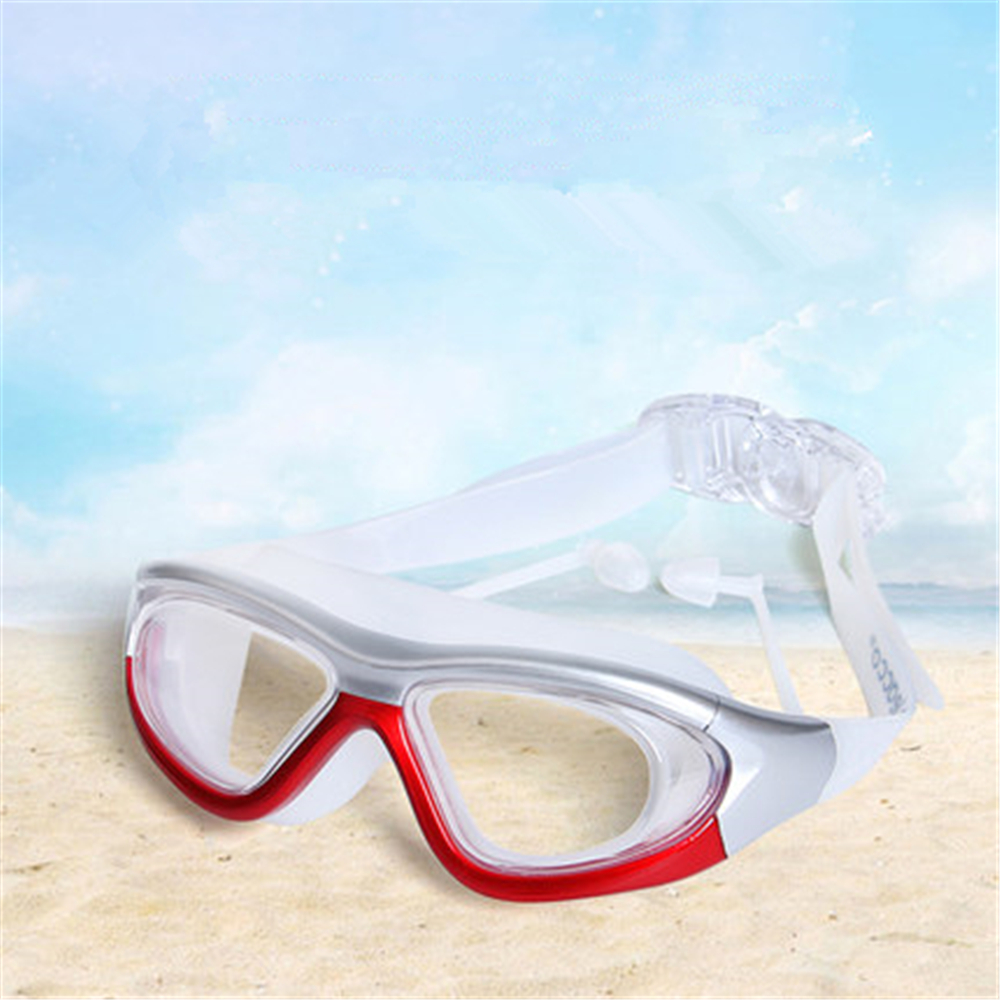 transparent men women myopia diopter prescription swimming goggles with large frame