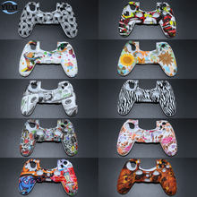 YuXi Camouflage Camo ซิลิโคนยางนุ่มผิว Grip case สำหรับ Dualshock 4 Playstation 4 PS4 Pro Slim controller(China)