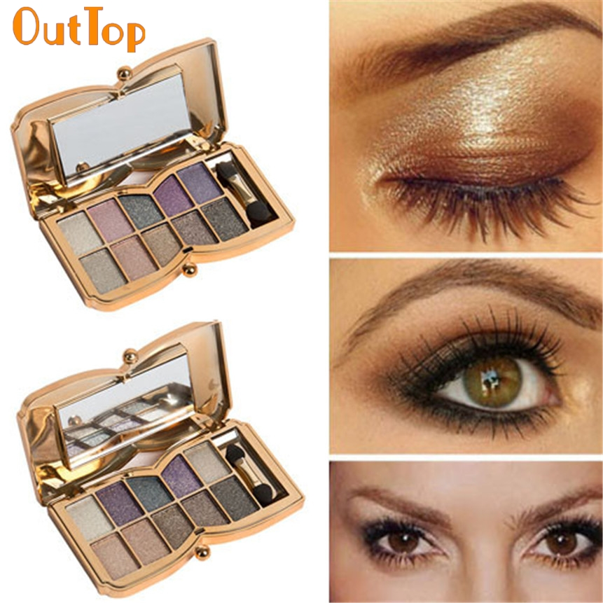 OutTop Beauty Fashion 1Box 10 Colors Shimmer Eyeshadow Eye
