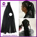 Black color 20inch New Synthetic Dreads Faux locs crochet hair Dreadlock braids extensions Reggae dirty braid for Man and Woman