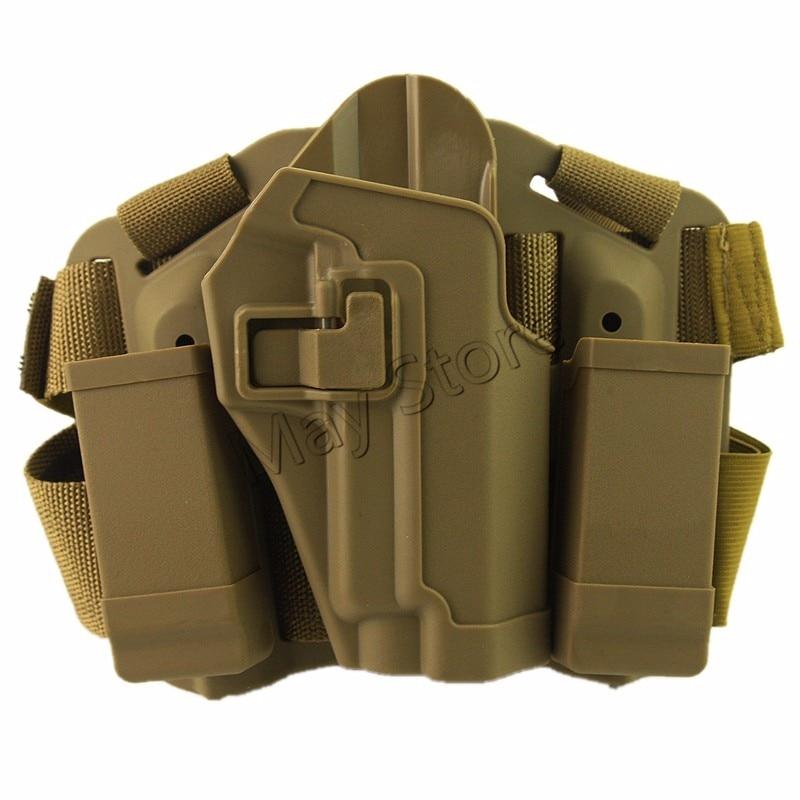 RH W/ Magazine Torch Pouch Airsoft Tactical Holster SIG SAUER P226 P229 Outdoor Hunting Gun Holster Leg Tan