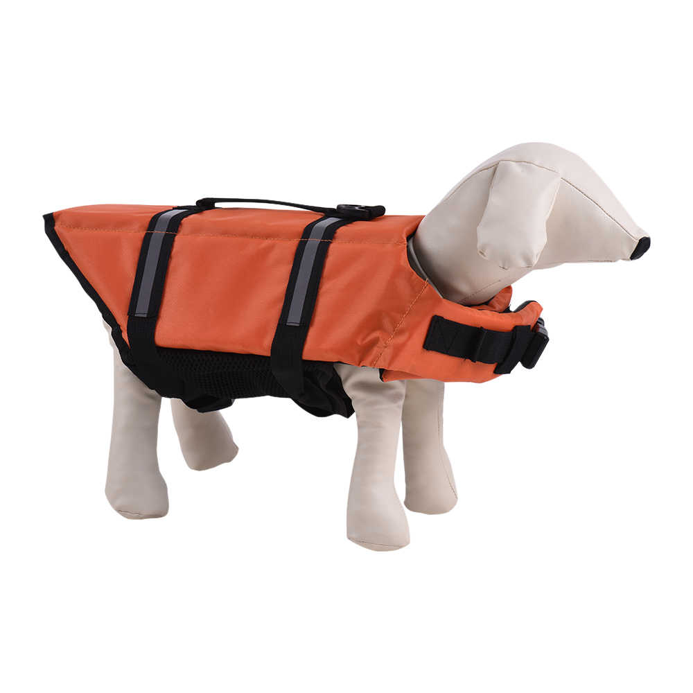 Mascotas perro salvavidas Buoyant chaleco flotante seguro agua al aire libre natación seguridad preservidor ajustable reflectante ropa de relleno