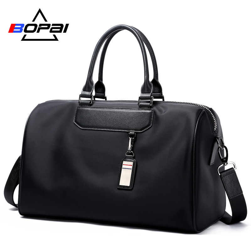 BOPAI Men Travel Bag Organizer Short Distance Business Travel Men Torby Czarny Unisex Ladies Travel Torby na ramię Cool Weekend Bag