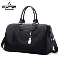 BOPAI Men Travel Bag Organizer Short Distance Business Travel Men Bags Black Unisex Ladies Travel Shoulder Bags Cool Weekend Bag