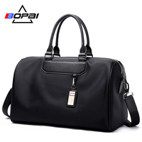 BOPAI Men Travel Bag Organizer Short Distance Business Travel Men Bags Black Unisex Ladies Travel Shoulder Bags Cool Weekend Bag