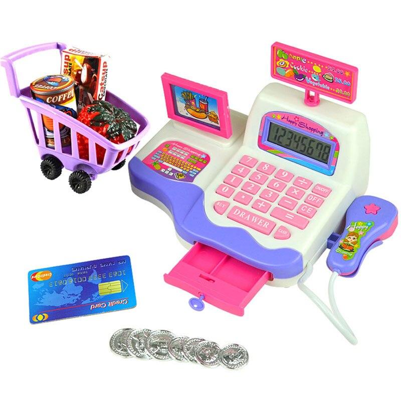 Creative Kid Toy Pretend Play Supermarket Cash Register Scanner Checkout Counter W30