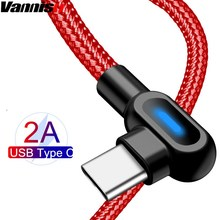 Vanniso Fast Charging 2.4A USB Type C Cable for Samsung S10 S9 S8 Huawei P30 P20pro Xiaomi Oneplus 6 6t