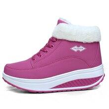 2017 зимняя женская обувь женские Обувь для танцев сапоги на платформе женские Сапоги и ботинки для девочек Термальность с хлопковой подкладкой Обувь Ботильоны на плоской подошве