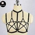 Женщины Новый Показал Два Pentagram жгута проводов кузова Ручной Harajuku Готический Сексуальное Женское Белье жгут кейдж бюстгальтер связывание тела готический платье