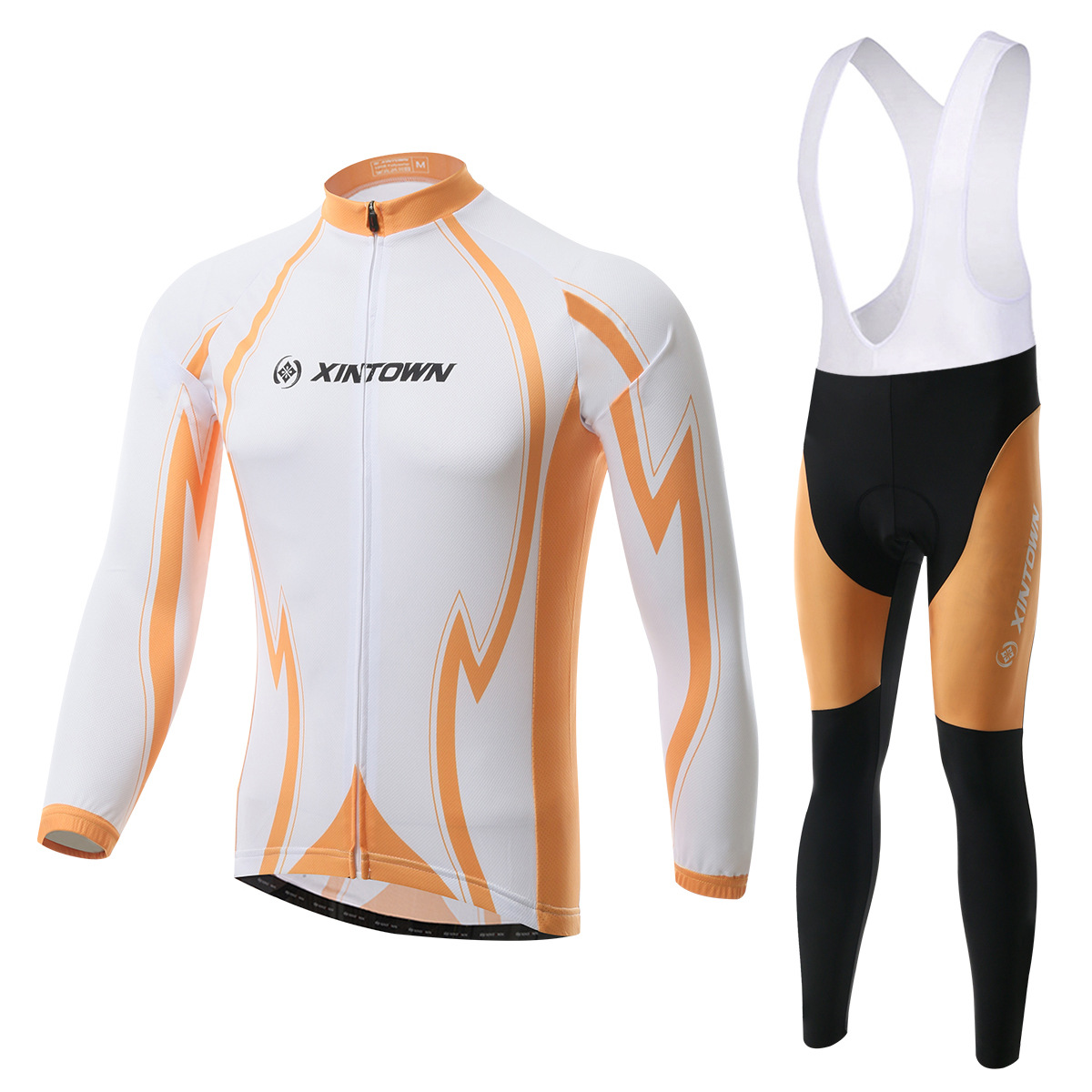 XINTOWN Liuyue bike riding jersey strap long sleeve suit wear bicycle suits fleece windproof warm function underwear