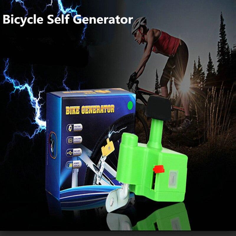 XC USHIO Bicycle Self Generator Mobile Dynamo Bicycle Bike Dynamo 5V 1A Output Built-in 1000mAh Battery Night Riding Equipment