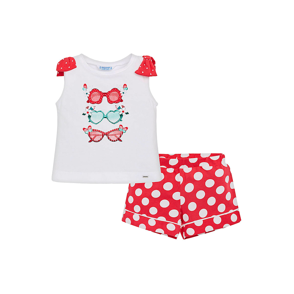 MAYORAL Baby's Sets 10688889 Cotton Girls Fashion clothing costume for girl shorts T-shirt hot summer sportswear jerseys shorts skeleton pattern cycling sets for outdoor sport