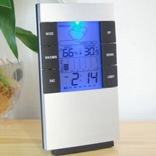 LED Backlit Humidity Temperature Meter Hygrometer Weather Clock For Room Indoor Home Hot Sale