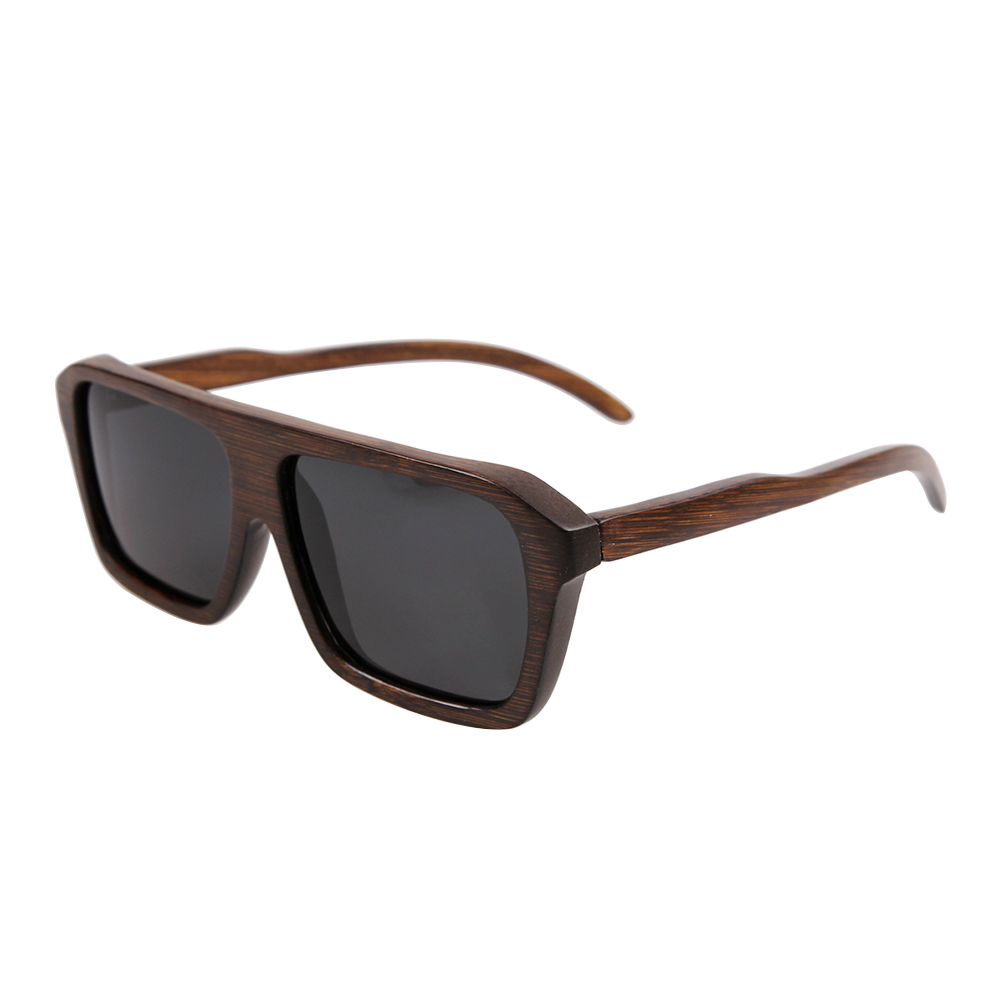 BerWer vroče prodajajo bambusova sončna očala polarizirana sončna očala lesena sončna očala Mešanje barv sprejema Dropshipping