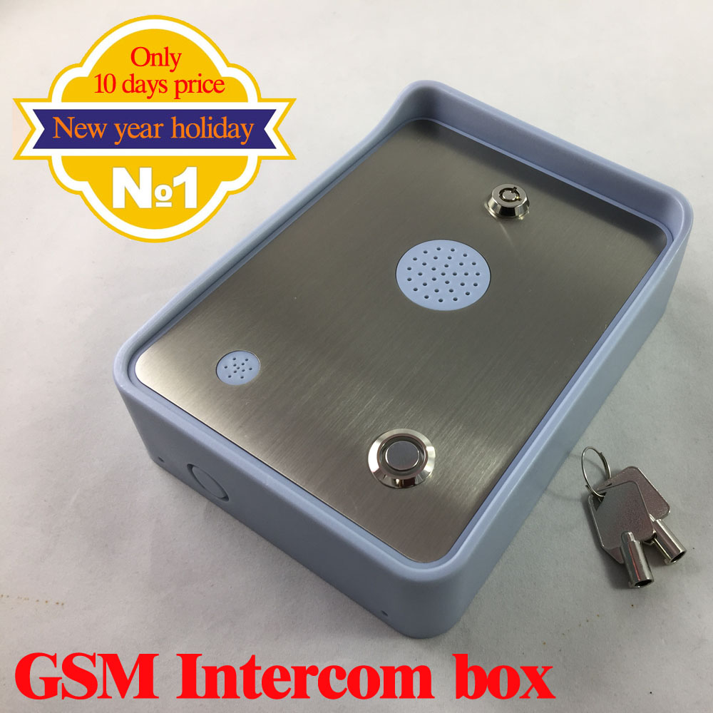 2016 GSM-HOUSE Wireless gsm audio intercom system with alarm and wireless gsm gates access system