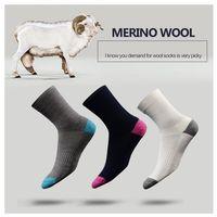 3 пары Высокое качество 6 цветов Австралия мериносовая шерсть теплые носки для женщин и мужчин Зимние Повседневные Носки Экипажа