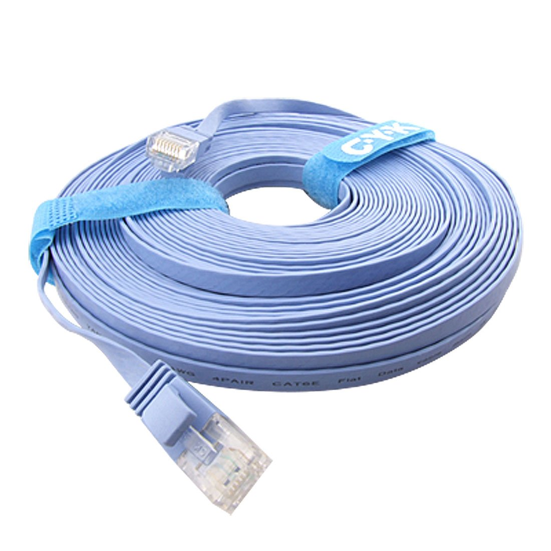 GTFS-20M CAT6 Flat UTP Ethernet Network Cable RJ45 Patch LAN Cord Blue