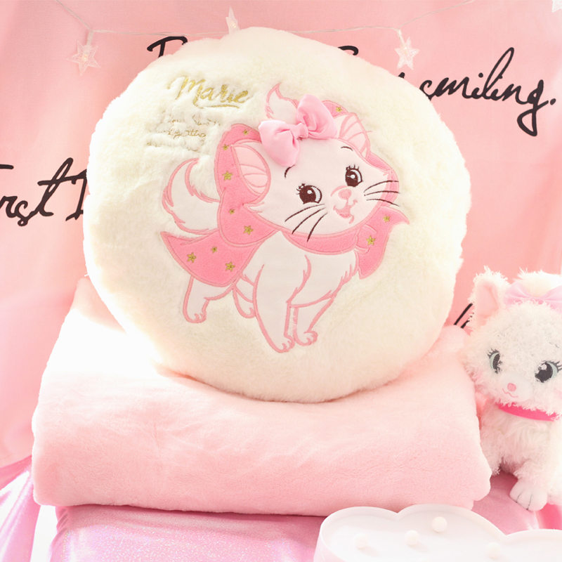 Candice guo! Super cute plush toy sweet Marie Cat soft stuffed round cushion pillow air condition blanket girls birthday gift 1p candice guo plush toy stuffed doll cartoon reindeer pillow elk cushion deer air condition warm blanket baby birthday gift 1pc