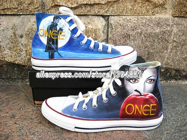 Once Upon A Time Shoes Custom Sneakers Hand Painted Shoes Canvas For
